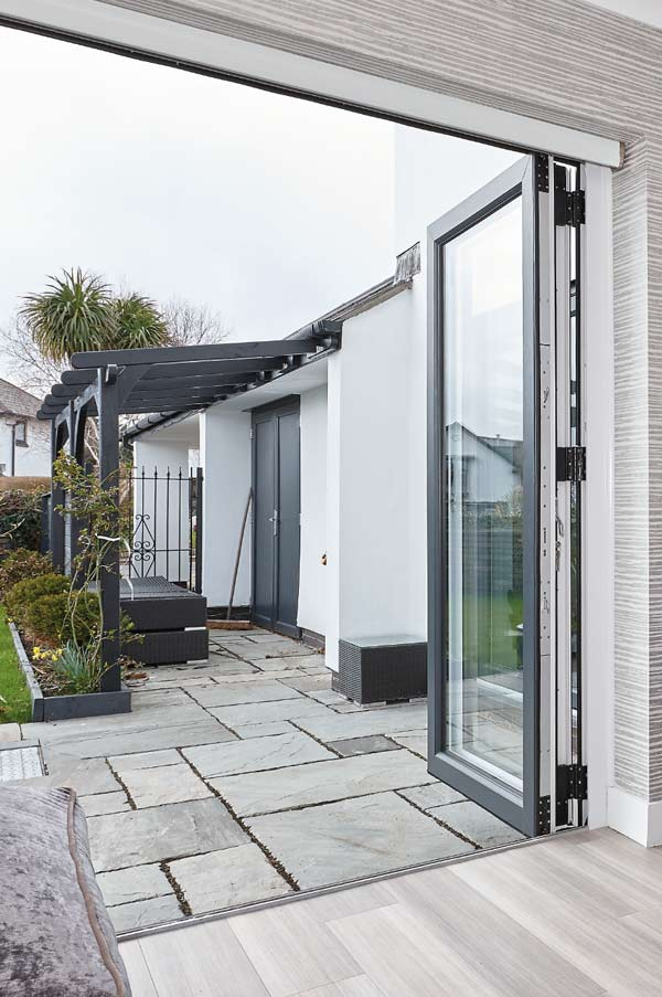 Anthracite Grey Bi-Fold Door